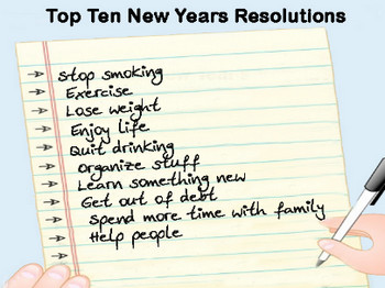 Top Ten New Years Resolutions